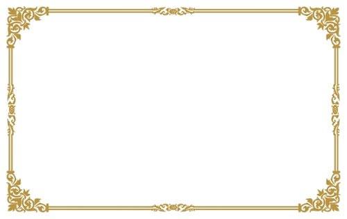 ps两张图片合成教程_方格转角和花纹装饰的简洁古典风格边框素材